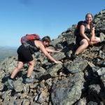 Rigmor og Nanna passerer 1000 meter på alle fire...