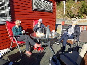 Bilde fra styremøte i Lavangen Fjellvandrerlag